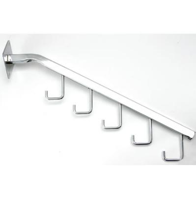 Brazo 18 5 ganchos cromados para pared display panam for Ganchos adhesivos para pared