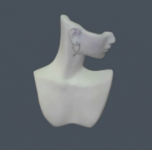 Forma de venus para collar de acrílico