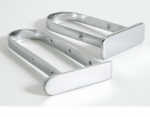 Tapon cromado para barra rectangular